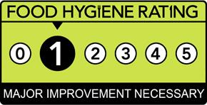 Food Hygiene Rating Scheme Score 1 (One)